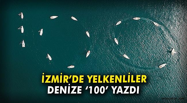 İzmir'de yelkenliler denize