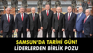 Siyasi liderler 100. yılı hep birlikte Samsun'da kutladı