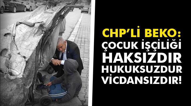 CHP'li Beko: Çocuk işçiliği haksızdır, hukuksuzdur, vicdansızdır!