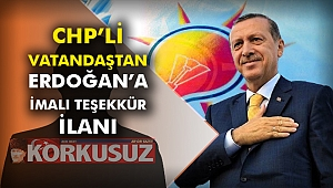 CHP'li vatandaştan Erdoğan'a imalı teşekkür ilanı