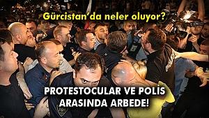 Gürcistan'da protestocular ve polis arasında arbede