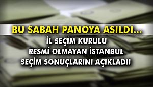 İl Seçim Kurulu, resmi olmayan İstanbul seçim sonuçlarını açıkladı