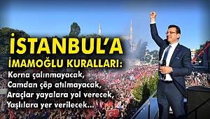 İstanbul'a 'İmamoğlu kuralları'