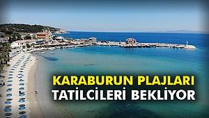 Karaburun plajları tatilcileri bekliyor