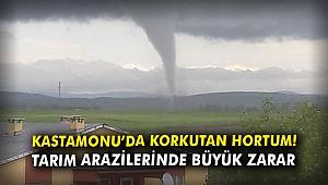 Kastamonu'da korkutan hortum! Tarım arazilerinde büyük zarar