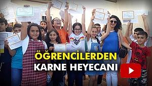 Öğrencilerden karne heyecanı
