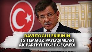 Davutoğlu ekibinin 15 Temmuz paylaşımları AK Parti'yi teğet geçmedi