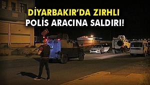 Diyarbakır'da zırhlı polis aracına saldırı!