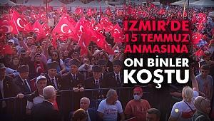 İzmir'de 15 Temmuz anıldı