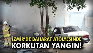 İzmir'de baharat atölyesinde korkutan yangın!