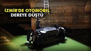 İzmir'de otomobil dereye düştü
