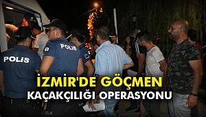 İzmir'deki göçmen kaçakçılığı operasyonu