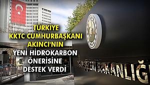 Türkiye KKTC Cumhurbaşkanı Akıncı'nın yeni hidrokarbon önerisine destek verdi