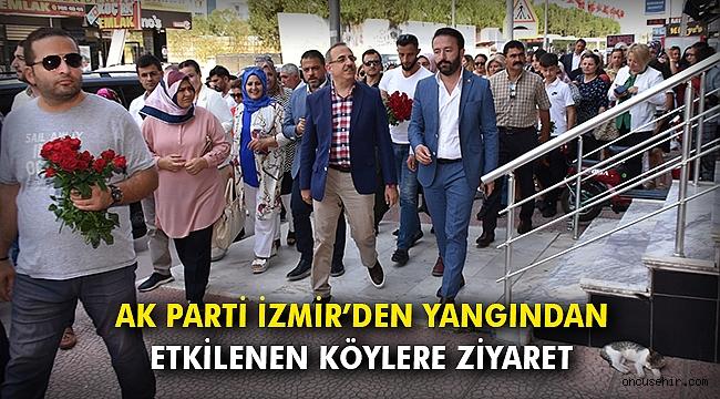 AK Parti İzmir'den yangından etkilenen köylere ziyaret