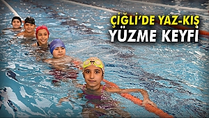 Çiğli'de Yaz-Kış Yüzme Keyfi