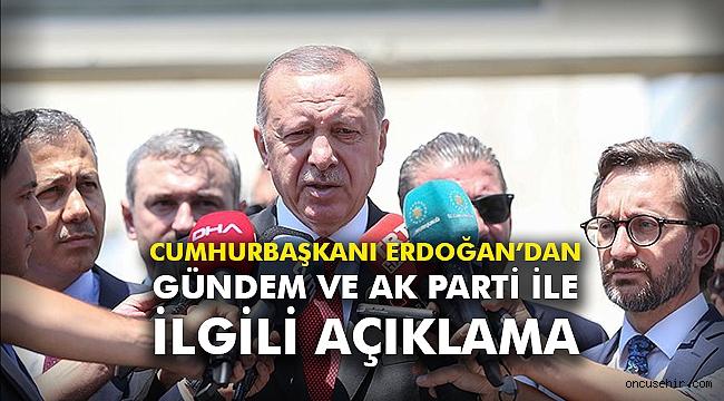 Cumhurbaşkanı Erdoğan'dan gündem ve AK Parti ile ilgili açıklama