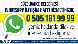Güzelbahçe Belediyesi WhatsApp İletişim Hattı Açıldı