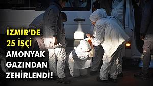 İzmir'de 25 işçi amonyak gazından zehirlendi