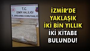İzmir'de yaklaşık iki bin yıllık iki kitabe bulundu