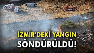 İzmir'deki yangın söndürüldü!
