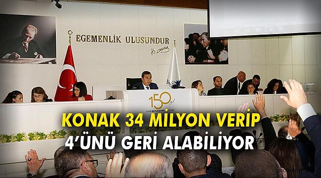 KONAK 34 MİLYON VERİP 4'ÜNÜ GERİ ALABİLİYOR