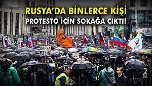 Rusya'daki protesto gösterilerinde 150 kişi gözaltına alındı