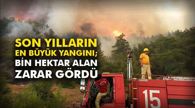 Son yılların en büyük yangını; Bin hektar alan zarar gördü
