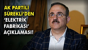 AK Partili Sürekli'den 'Elektrik Fabrikası' açıklaması