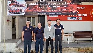 Başkan Fatih Gürbüz, Foça İtfaiye Grubu'nu ziyaret etti