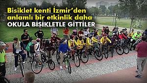Bisiklet kenti İzmir'den anlamlı bir etkinlik daha