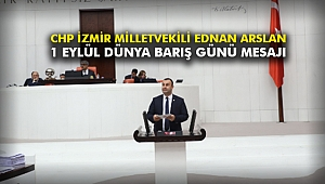 CHP İzmir Milletvekili Ednan Arslan, 1 Eylül Dünya Barış Günü mesajı