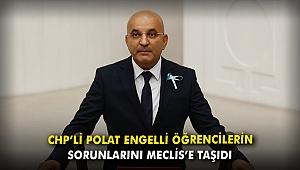 CHP'li Polat, engelli öğrencilerin sorunlarını Meclis'e taşıdı
