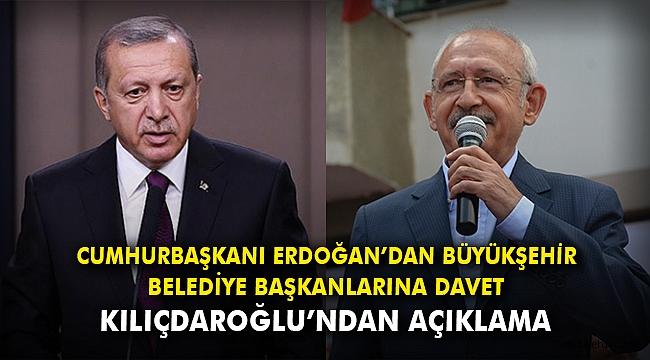 Cumhurbaşkanı Erdoğan'dan büyükşehir belediye başkanlarına davet