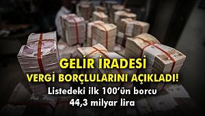 Gelir İradesi vergi borçlularını açıkladı! Listedeki ilk 100'ün borcu 44,3 milyar lira