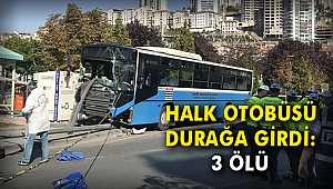 Halk otobüsü durağa girdi: 3 ölü
