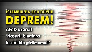 İstanbul'da çok büyük deprem! AFAD uyardı: 'Hasarlı binalara kesinlikle girilmemeli'