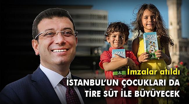 İstanbul'un çocukları da Tire Süt ile büyüyecek