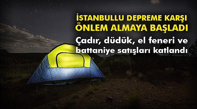 İstanbullu depreme karşı önlem almaya başladı