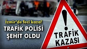 İzmir'de feci kaza! Trafik polisi şehit oldu