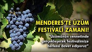 Menderes'te üzüm festivali zamanı