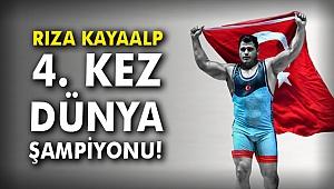 Rıza Kayaalp tarih yazdı: Dünya şampiyonluğuna ulaşan ilk Türk güreşçi
