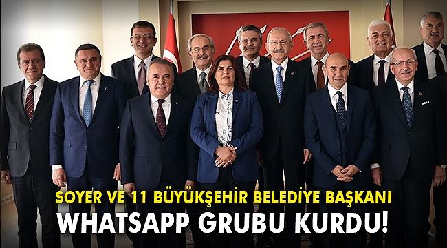 Soyer ve 11 büyükşehir belediye başkanı WhatsApp grubu kurdu