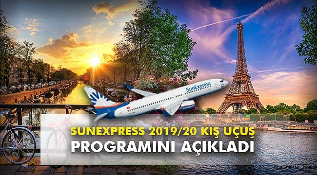 SunExpress 2019/20 kış uçuş programını açıkladı