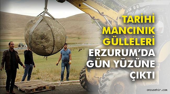 Tarihi mancınık gülleleri Erzurum'da gün yüzüne çıktı