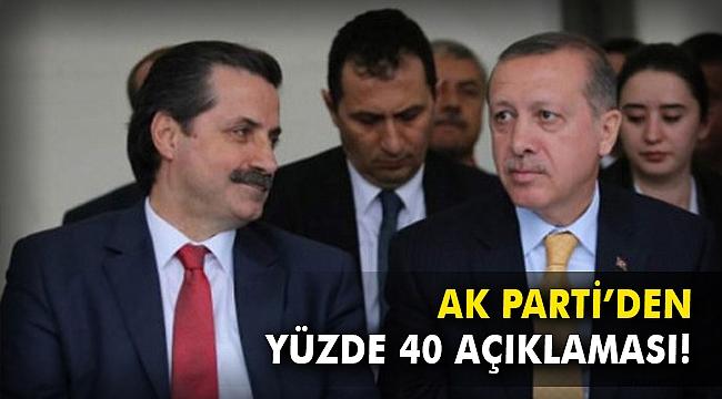 AK Parti'den yüzde 40 açıklaması