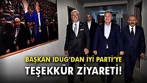 Başkan İduğ'dan İyi Parti'ye teşekkür ziyareti