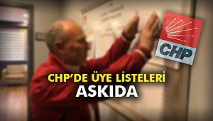 CHP'de üye listeleri askıda