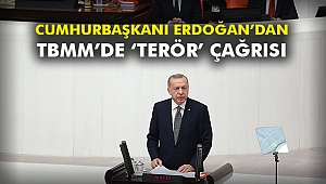 Cumhurbaşkanı Erdoğan'dan TBMM'de 'terör' çağrısı