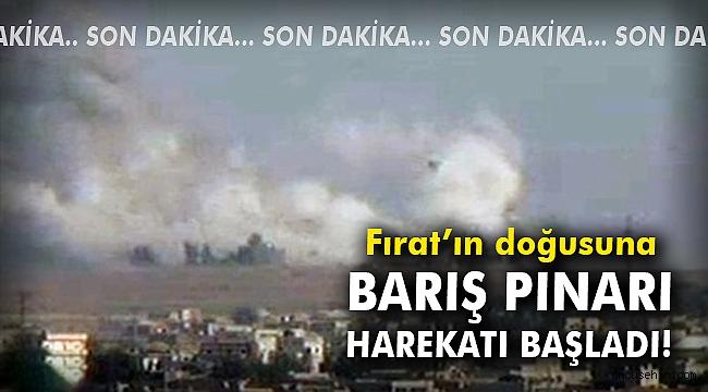 Fırat'ın doğusuna Barış Pınarı Harekatı başladı!