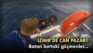 İzmir'de can pazarı! Batan bottaki göçmenler...